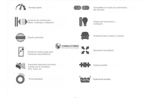 cabina audiometrica  - pyz consultores
