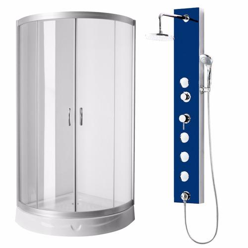 cabina box 90x90 angular + ducha escocesa con duchador pdv