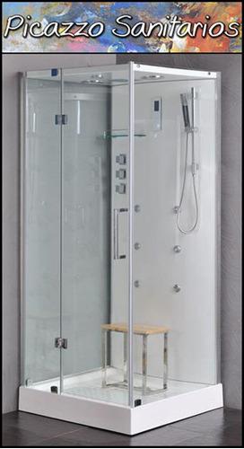 cabina completa  ducha escocesa modelo rin con vapor y ozono