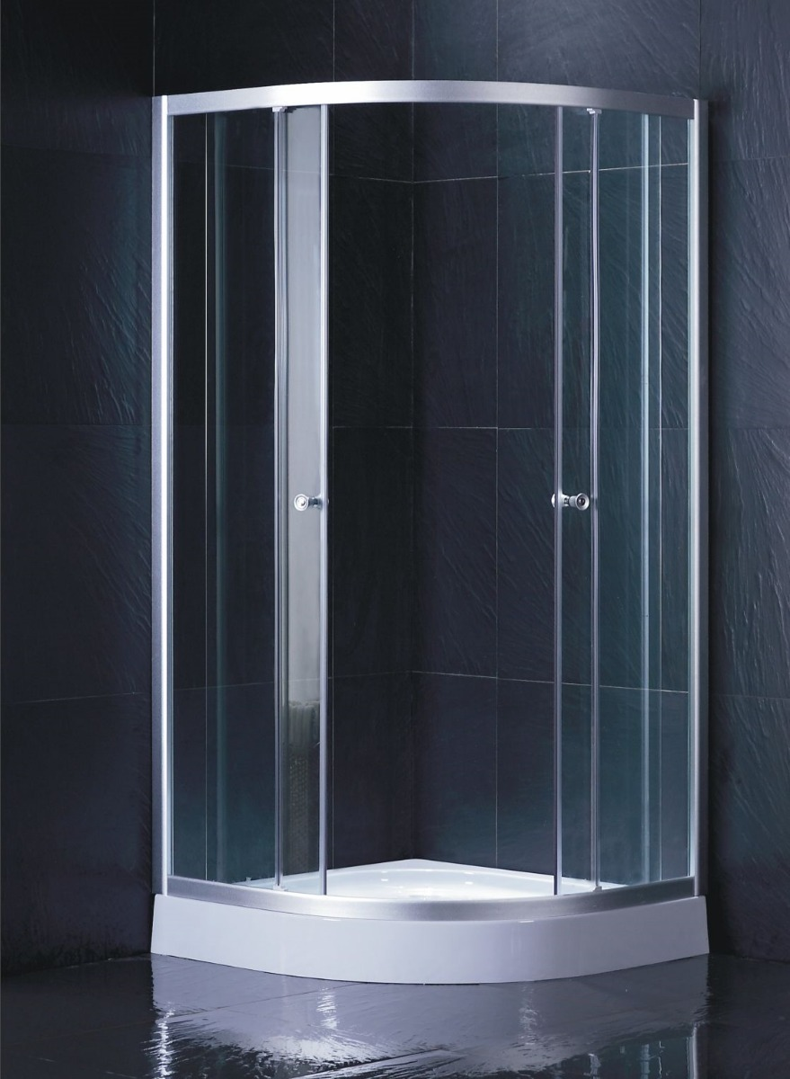 Cabina cristal templado cancel aluminio ts623sb sin base for Cabina ducha bricodepot