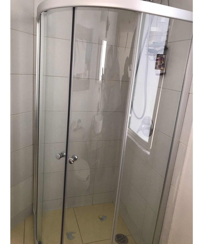 cabina de baño ovalada 90x90 cristal templado 6mm