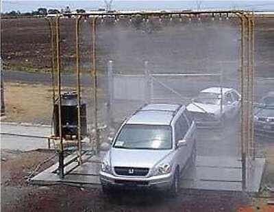 cabina de desinfección para carros sobre medida
