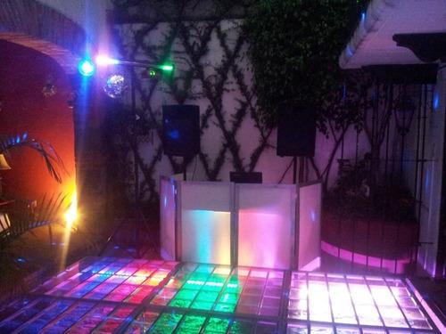 cabina de dj (dj booth, mampara, stand, no incluye mesa)