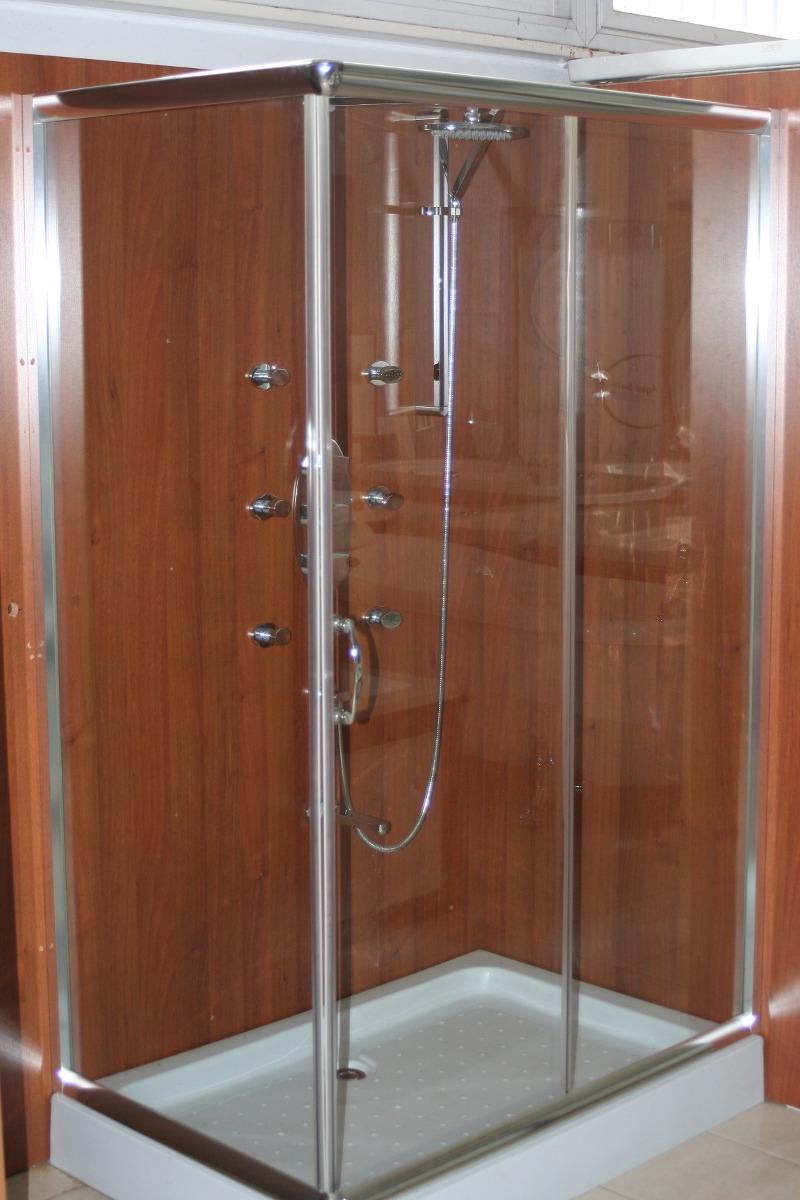 Cabina De Ducha 120x80 Vidrio Templado Sin Receptáculo - $ 11.997,00 ...