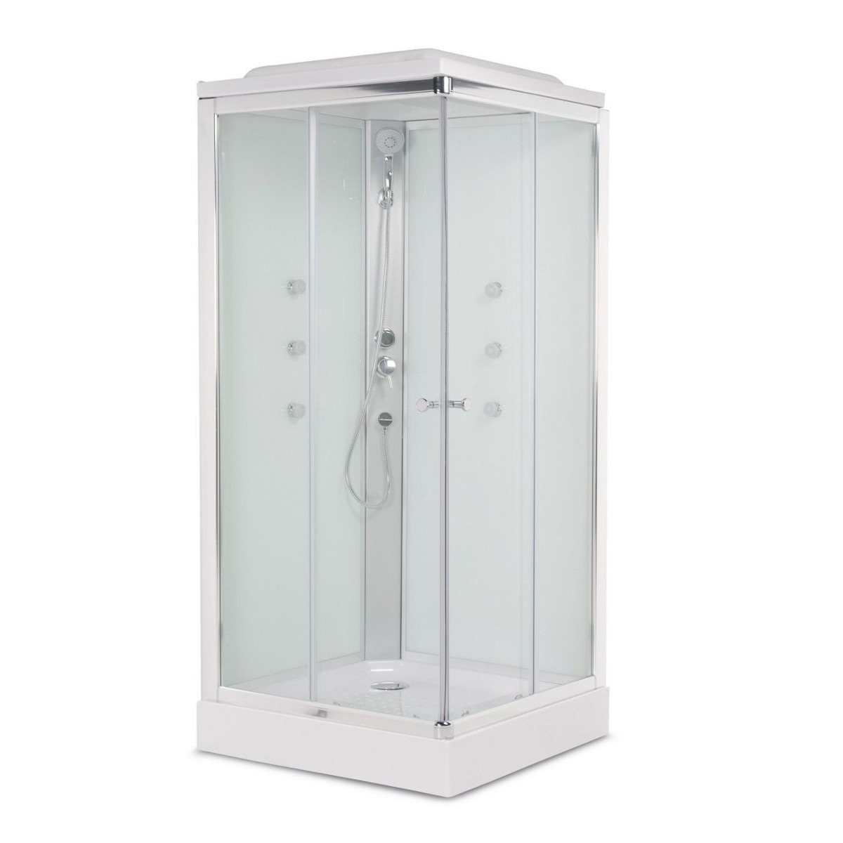 Cabinas de ducha hidromasaje cool cabina de ducha talia n - Quitar cristal templado ...