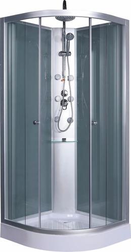 cabina de ducha con panel hidro 80x80 bauen ceramicas castro