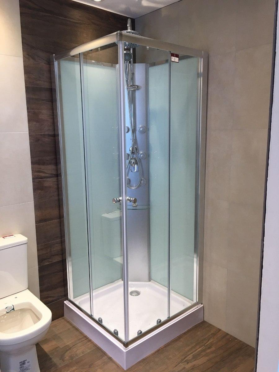 Cabina de ducha c panel hidro 80x80 recto ceramicas - Duchas con asiento ...