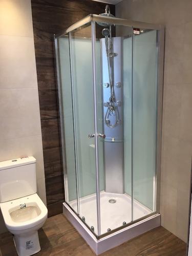 Cabina de ducha c panel hidro 80x80 recto ceramicas castro u s 715 00 en mercado libre - Cabina de ducha ...