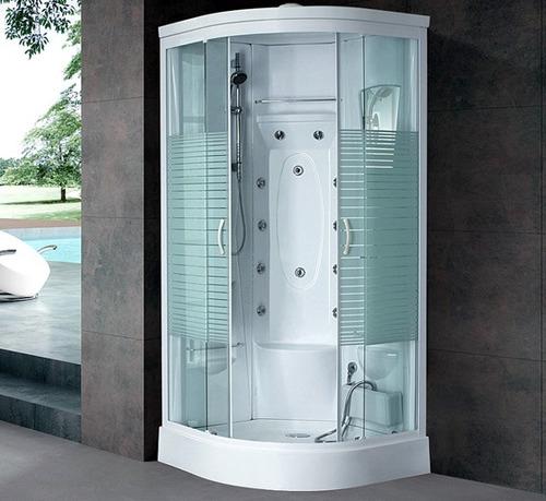 cabina de ducha escocesa aloha s-005 con vapor y masajeador