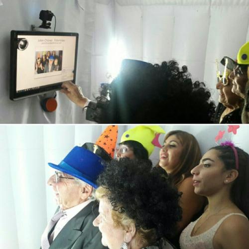 cabina de fotos inflable para eventos