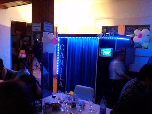 cabina de fotos instantaneas  con dos monitores