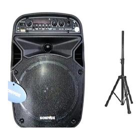 Cabina De Sonido 6.5 Pulg + Tripode + Microfono, Recargable