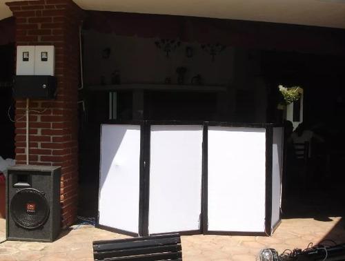 cabina doble de dj (dj booth, mampara, stand, envío gratis!)