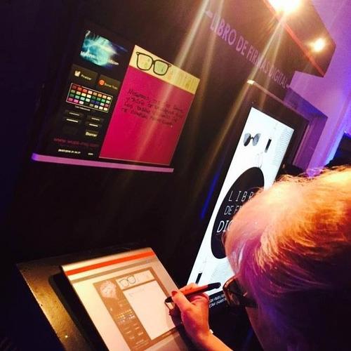 cabina libro de firmas digital único, foto de recuerdo!