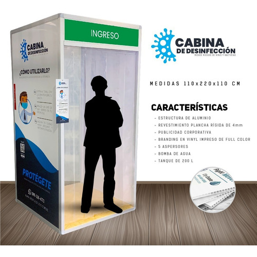 cabina o túnel de desinfección