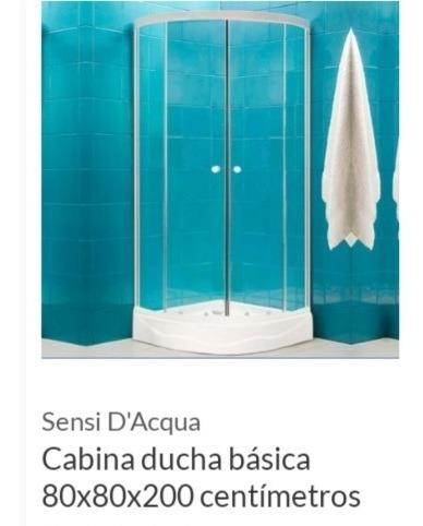 cabina para baño en vidrio
