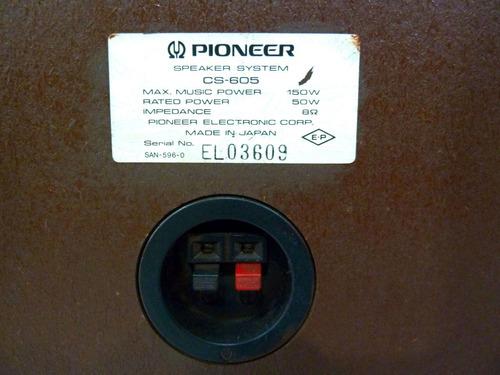 cabina parlante bafle pioneer cs-605 12p japon