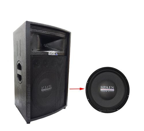 cabina pasiva 15  tipo tr 1500 watts spain audio (bafle)