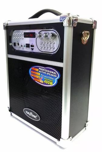 cabina portátil bluetooth 400 wats - fm, usb, microf + envío