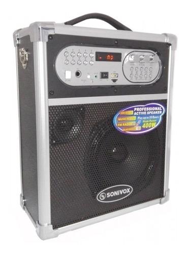cabina portátil bluetooth 400 watts - fm, usb, microf +envio