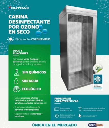 cabina sanitizante por ozono **no usa liquido** dutrax