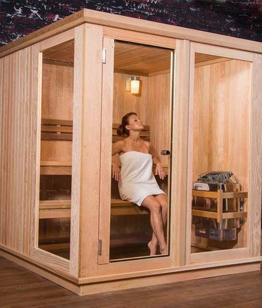 Cabina Sauna Tradicional Pre Fabricada Madera Pino 6m3 1699990 - Cabina-sauna