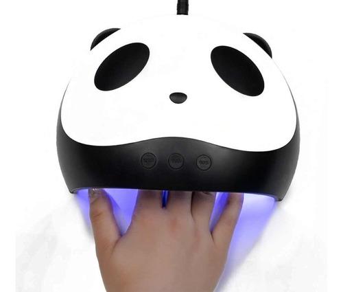 cabina secador de uñas usb forma de panda con led uv para manicuria y pedicuria
