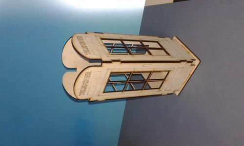 cabina telefonica ,centro de mesa mdf fibrofacil
