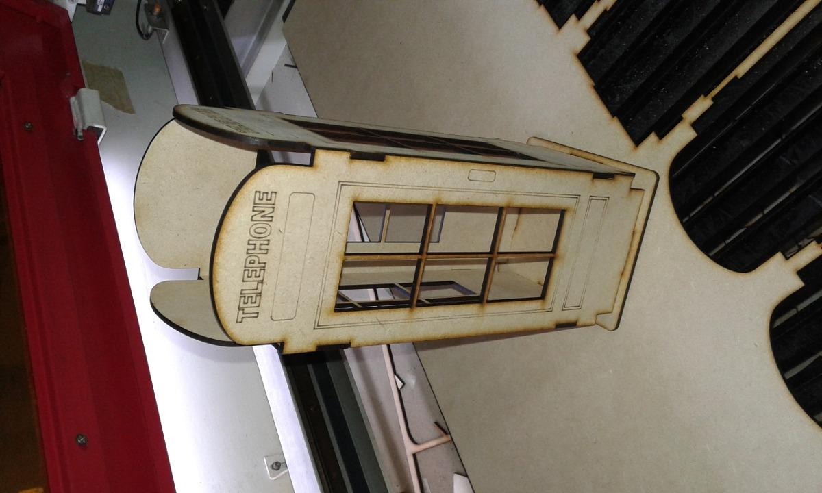 Cabina Telefonica : Cabina telefonica centro de mesa mdf fibrofacil $ 65 00 en