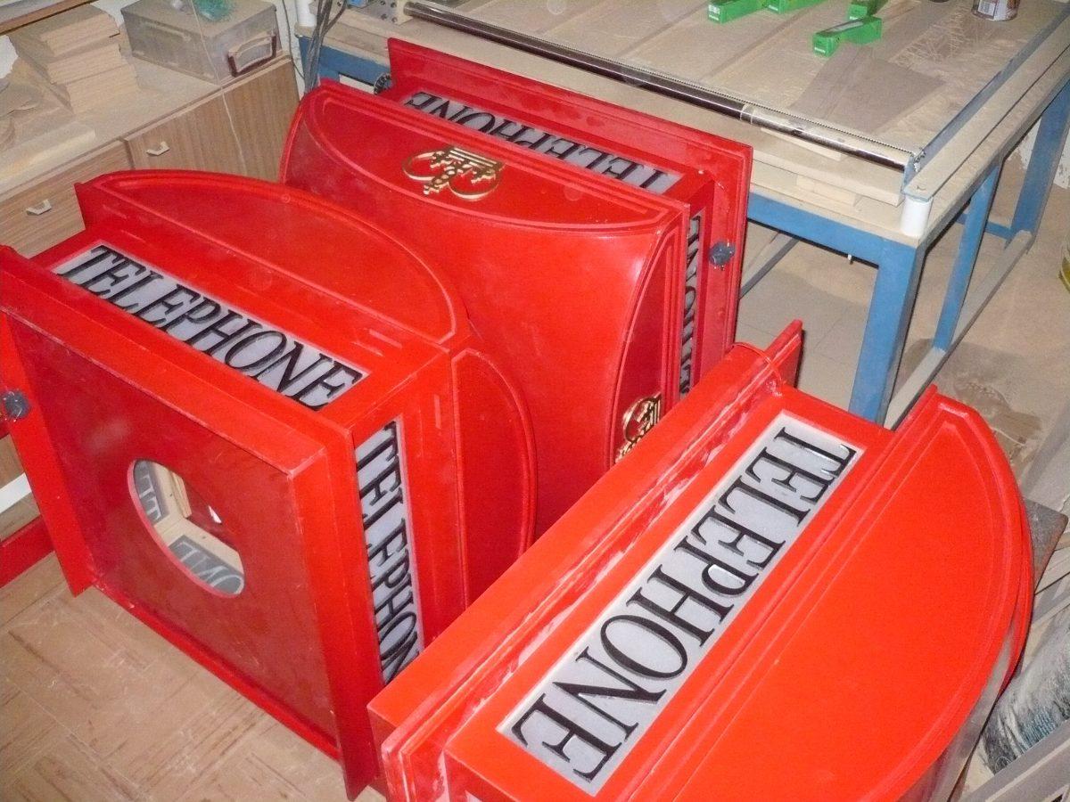 Cabina Telefonica : Cabina telefonica inglesa telephone 0 85 x0 85 x 225 con luz