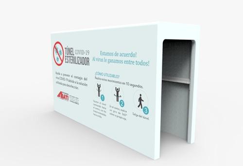 cabina túnel desinfección