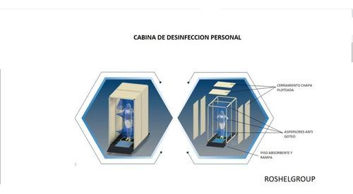 cabina tunel desinfección  sanitizante