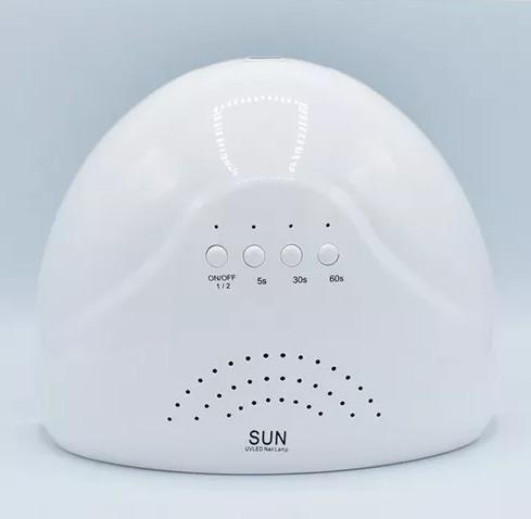 cabina uv/led sun 48w timer y sensor uñas gel esmaltado