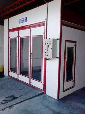 cabinas con horno de pintura automotriz