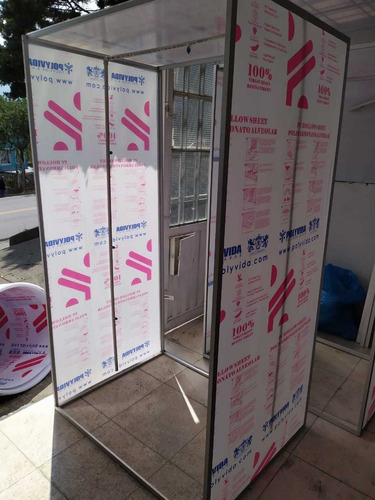 cabinas de desinfección.