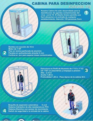 cabinas de desinfección para protección
