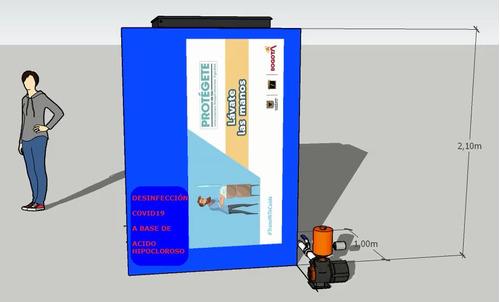 cabinas de desinfección protocolo sanitización