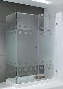 cabinas para baños en vidrio templado