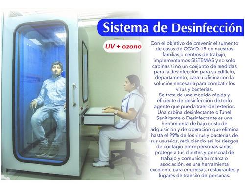 cabinas, túneles, arcos y demás equipos desinfectantes