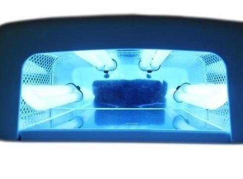 cabine forno uv 36w 110v com 4 lâmpadas - unhas gel, acríge
