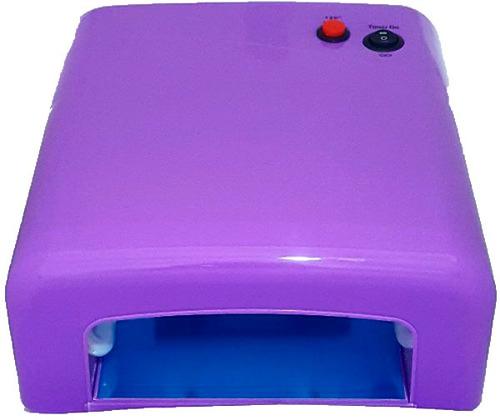 cabine forno uv 36w 110v com 4 lâmpadas - unhas gel, acrígel