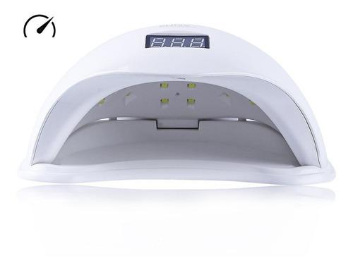 cabine sun 5 48w branca bivolt uv/led timer digital unhas