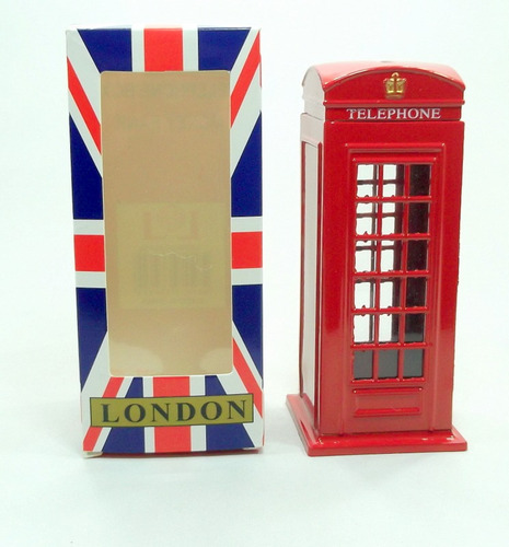 cabine telefone londres miniatura média retro/vintage ingles