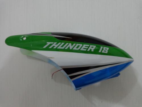 cabine verde e azul helicoptero thunder h18 candide