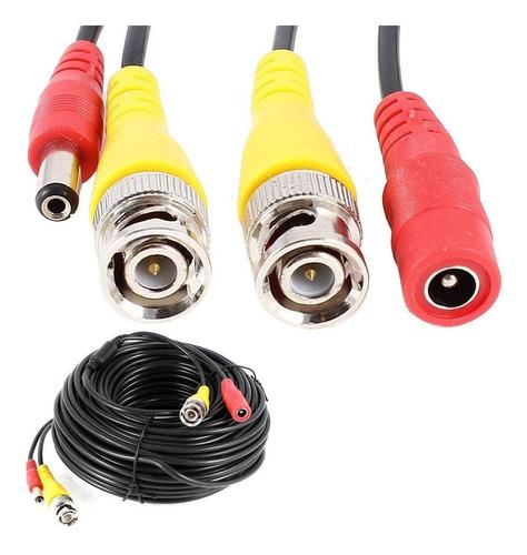 cable 10 metros bnc + dc alimentación cámaras seguridad dvr