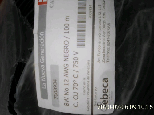 cable #12 awg kit de 3
