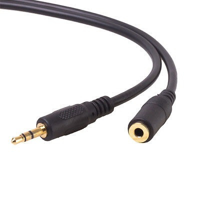 cable 15ft 1/8  3.5mm stereo audio extension plug mini jack