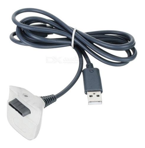 cable 2 en 1 carga y juega usb joystick de xbox 360