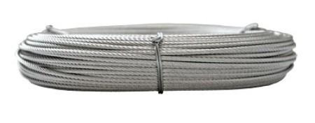 Cable 2 o 4mm acero pulido precio x metro importado for Cable de acero precio