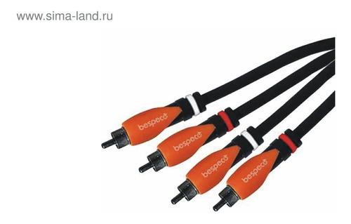 cable 2 rca a 2 rca - 2x2 rca 1.8 metros bespeco sl2r180